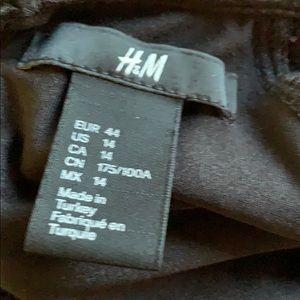 H&M Dresses - H & M   Black Ruffle Sleeve Dress   14